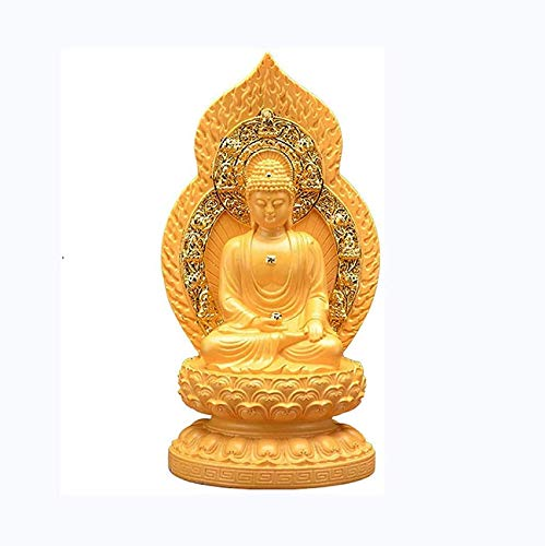 FGVBC Chinese Feng Shui Resin Maitreya Laughing Buddha Statue Decoration Figurine Craft Ornament Home Office Decor To Bring Peace And Enhance Positive Energy Feng Shui Ornaments Decoration
