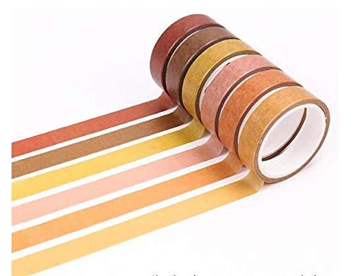 AK.SSI Washi - Juego de cinta adhesiva decorativa para manualidades, álbumes de recortes, planificador de bricolaje, artes y manualidades