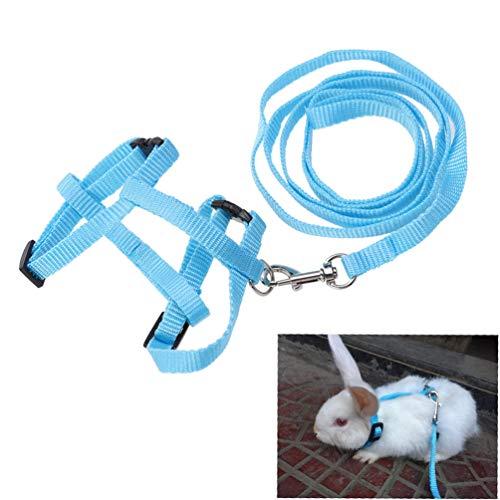 Balacoo Hasengeschirr verstellbar - Hasenlauf Jogginggeschirr Leine mit sicherer Klingel für Katze Kätzchen Frettchen Welpen und andere Kleintiere - zufällige Farbe