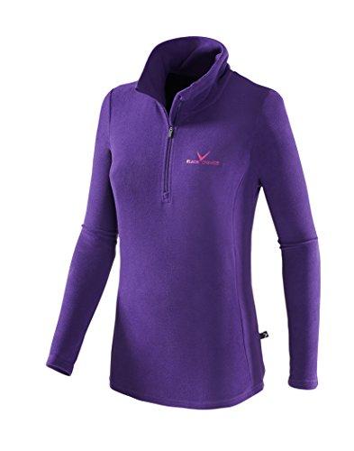 Black Crevice BCR218532 Pull de ski en polaire col roulé-femme-Violet (violett/Magenta)-38 EU