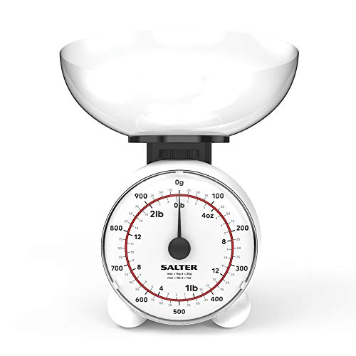 Salter 129 WHDR Kitchen Scale, Blanc