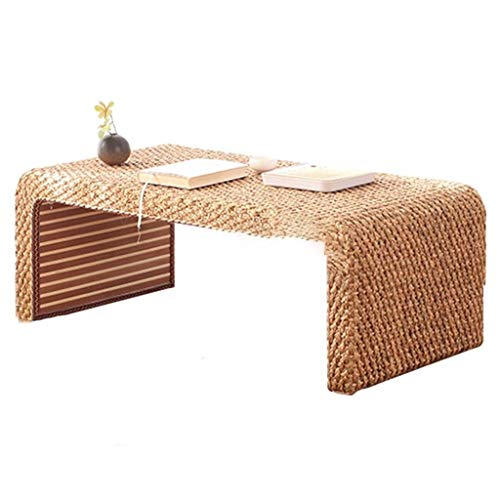 Mesa De Centro De Tatami De Ratán Mesa De Centro De Piso A Techo for Dormitorio Estable Y Duradera (Color : Brown, Size : 80 * 50 * 38cm)