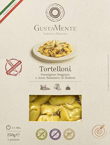 GustaMente Tortelloni parmigiano ed aceto balsamico - senza glutine - 3 Confezioni da 250 g