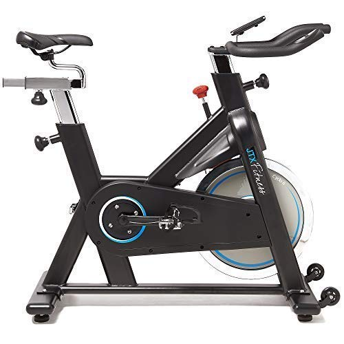 JTX Cyclo 6 Exercise Bike - Gym Spec Indoor Bike - 22kg Belt Driven Flywheel - Heart Rate Chest Strap - Adjustable Seat & Handles - 24 Months Warranty - Gym Equipment At Home - Infinity Resistance