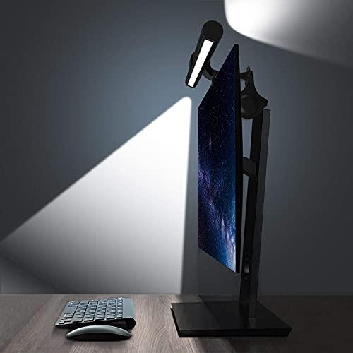 OOWOLF Lampada per Schermo LED 41cm, Lampada da Scrivania USB con Controllo Touch, 3 Temperature di Colore e Luminosità Regolabile, Luce da Lavoro con Funzione di Memoria per Ufficio e Casa