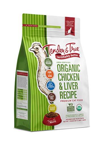 Tender & True Organic Chicken & Liver Recipe Cat Food