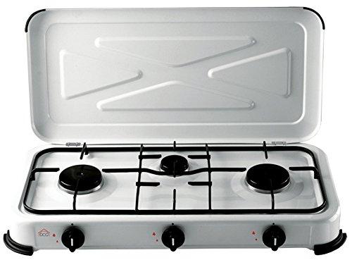 DCG Eltronic EKP 2423 Mesa Gas Negro, Color blanco - Placa (Mesa, Gas hob, Negro, Color blanco, Giratorio)