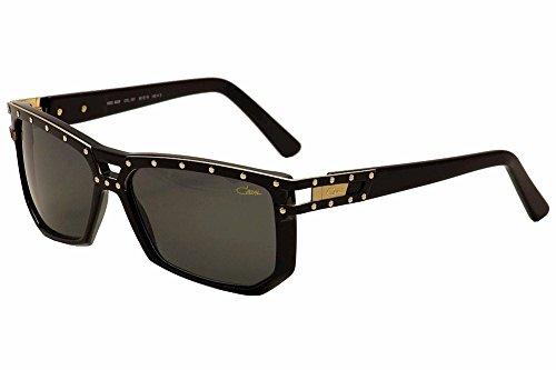 Cazal 8028 001 Herren Sonnenbrille, 60 mm, Schwarz/goldfarben