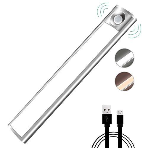 Globalflashdeal Bewegungs Sensor Licht, LED Schrank Nachtlicht Usb Aufladbare Automatische 33 LED Mit Magneten Klebeband Für Kleiderschrank Schrank Küche Korridor (Reinwei?)