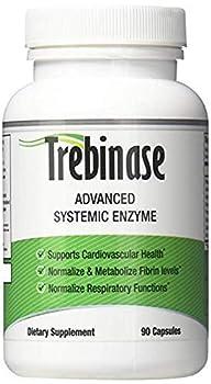 Trebinase 320,000 FU s Per Capsule Advanced Systemic Enzyme Blend of Serrapeptase Nattokinase & Seaprose Plus Co-Enzymes - Dissolve Scar Tissue Quickly.- 99.99% Pure Pharmaceutical Grade Enzymes