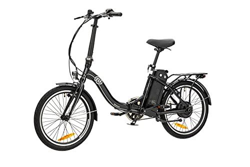 VecoCraft Nemesis Elektro Klapprad,E Bike 20 Zoll,E-Folding Bike, 36V 375WH ausziehbarer Baterrie mit Zellen von Samsung, 250W Motor, tragbares E-Bike Klapprad ebike Herren e Bike Damen, Schwarz