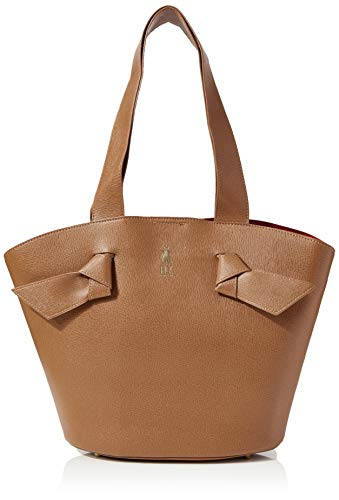 Fly London AMUN701FLY, Bolso de mano para Mujer, Beige/Red, One Size