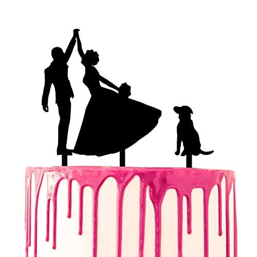 CARISPIBET Decoración para tarta de boda para novio y novia bailando con...