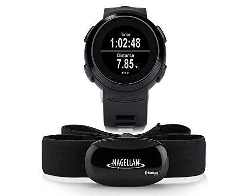 Magellan Echo Smart Watch Fitnesstracker Sport Armbanduhr, mit Herzfrequenzsensor und Brustgurt, robust und wasserfest, schwarz