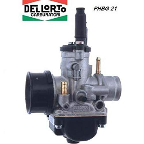 one by Camamoto carburatore dellorto (cod. 77110280 (PHBG 21) booster/nitro/aerox / am6 per motori minarelli aria manuale/con attacco depressione e miscelatore)
