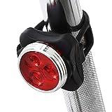 e.product 自転車 ライト 防水 USB電池テールランプ防災SOSフラッシュ点灯機能付 (レッド) (101d-red)