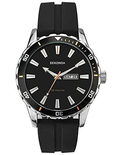 SEKONDA Unisex-Adult Analogue Classic Quartz Watch with Rubber Strap 1351.27