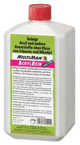 Multiman AcrylReiniger (für Kunststoffscheiben), Inhalt:1 l