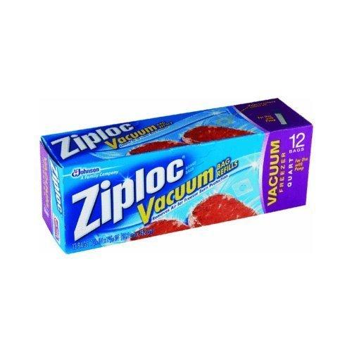 Ziploc Vacuum Pump Refill Bags, Quart Size