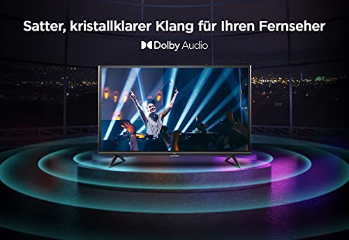 TCL 32ES570F Full HD LED Fernseher 32 Zoll (80 cm) Smart Android TV (HDR, Micro Dimming, Dolby Audio, Triple Tuner, Prime Video, Google Assistant, Bluetooth, Wi-Fi) Schwarz