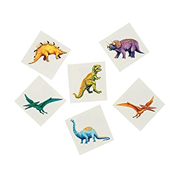 Fun Express Cool Dinosaur Tattoos  6 Dozen