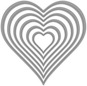 Heart shaped cutting dies