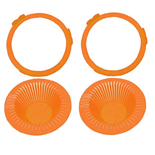 Brotación Tarro Mason colador Tapas Fermentación del Casquillo del Brote Tapas de plástico de Boca Ancha Mason tarros de Naranja 2 Piezas