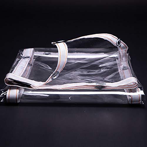 SOME Lona de Plástico Transparente, PVC Cubierta Impermeable Transparente, Lona Resistente Al Polvo, Resistente a La Lluvia, para Acampar, Pesca, Jardinería, 0.28mm