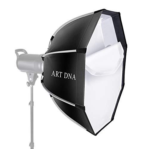 ART DNA Softbox Ottagonale 65cm in Diametro con Attacco Bowens & Beauty Dish, Velocemente Pieghevole con 2 Diffusori per Luce Flash Speedlite da Studio Illuminazione