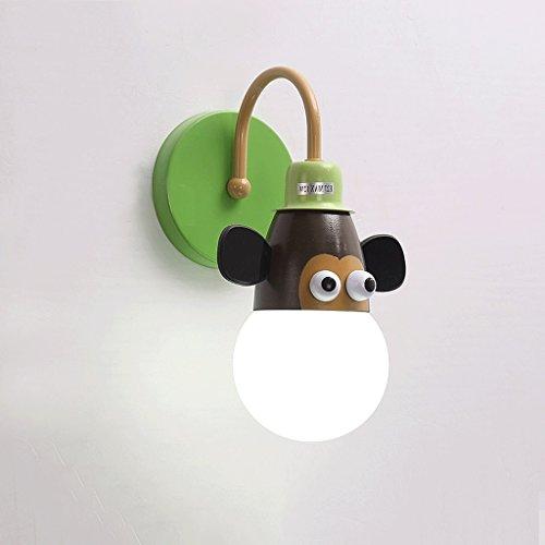 Good thing Applique Lampe murale pour enfants Linge de lit de lit Creative Cartoon Chambre pour enfants Light Boy Girl Chambre Light Animal Princess Light (Couleur : A)