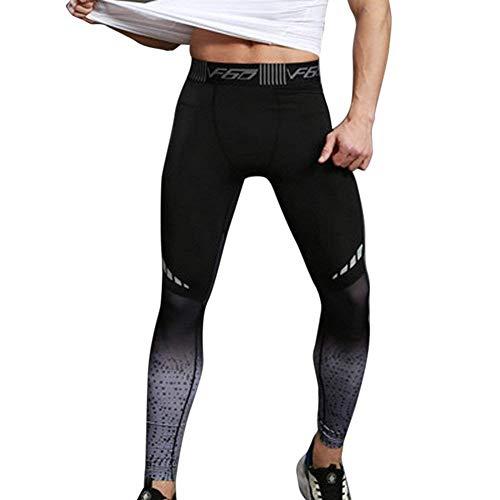 WEEN CHARM スポーツタイツ メンズ コンプレッションウェア ロングスパッツ オールシーズン ストレッチ アンダーウェア 吸汗速乾 UVカット 運動用 メンズ ロングタイツ 加圧 スポーツインナーウエア(M グレー)