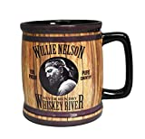 Willie Nelson Mug - Whiskey River Barrel