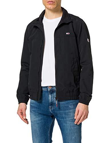 Tommy Jeans Herren TJM Essential Casual Bomber Jacke, Schwarz, XL