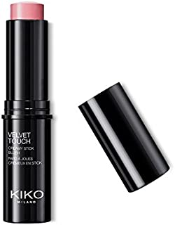 KIKO MILANO - Velvet Touch Cream Blush Stick: Creamy Texture and Radiant Finish | Natural Rose Blush 07 | Av. in 7 Colors | Cruelty Free | Professional Makeup | Made in Italy