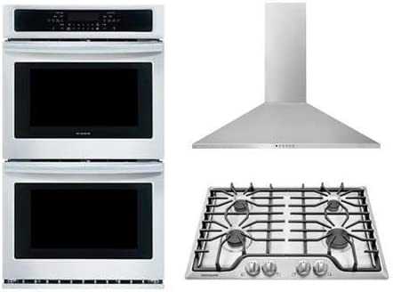 Frigidaire 3 Piece Kitchen Package With FFGC3026SS 30 Gas Cooktop FFET2726TS 27 Electric Double product image