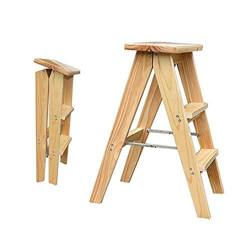 Z-H Multifunctionele opvouwbare kruk thuis kruk draagbare houten stap kruk keukenstoel
