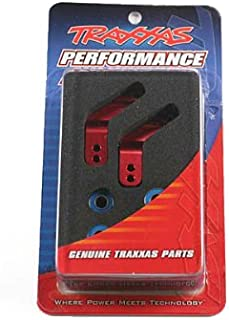 Traxxas 3652X Red-Anodized 6061-T6 Aluminum Rear Stub Axle Carriers (pair)