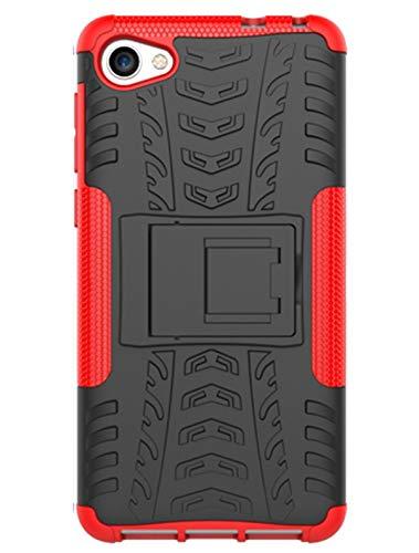 XINFENGDI Alcatel A5 LED Hülle,Handytasche Kratzfest aus TPU/PC Material Reifenprofil Handyhülle Kompatibel mit für Alcatel A5 LED - Rot