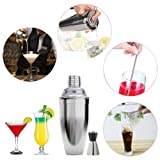 Coctelera Shaker Kit, INKERSCOOP 500ML Cinco Piezas Kit Coctelera Exquisito Coctelera Shaker Professional Bartender Accesorio Acero Inoxidable