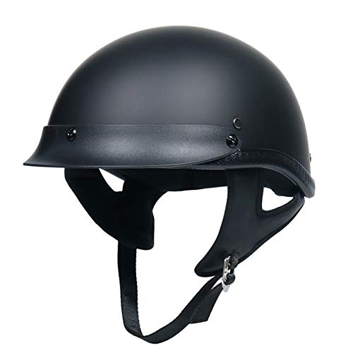 MYSdd Motorradhelm Classic Helm Retro Sommerhalbhelm Jet Retro Helm Doppel-D-Ring-Schnalle, Einsetzbar für Männer und Frauen - 1 X XXL