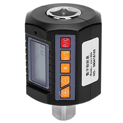 Medidor de torsión con pantalla digital, 20-200N.M, alimentado por batería con retroiluminación, adaptador de llave de torsión digital, ZNC-200 para automóviles industriales