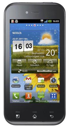LG E730 Optimus Sol Smartphone ( 9,65 cm (3,8 Zoll) Touchscreen, HSDPA, GSM, 5 Megapixel Kamera, MP3) schwarz