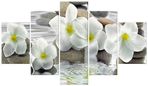 Lupia Quadro Moderno 5 Pezzi in Legno Vogue 48X85 cm Flower