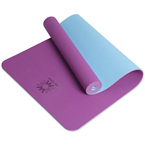 wwww Yoga Mat Extra Thick 1/4 & 1/3 Inch Non Slip Yoga Mats for Women & Men,Eco Friendly TPE Fitness Exercise Mat with Carrying Strap ,Best Gift for Valentine