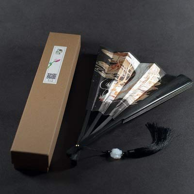 weichuang Abanico plegable clásico chino vintage plegable Hanfu anime Cosplay ventilador japonés de seda portátil (color: A)
