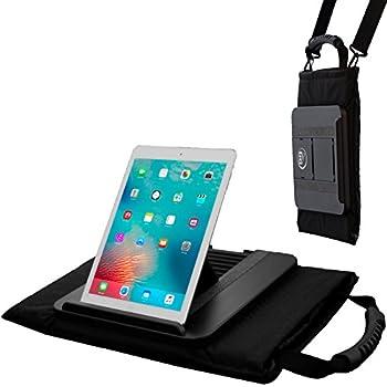 Prop 'n Go Tote // XL Multi-Angle Lap Desk + Messenger Bag // Pillow Base // Built-in Handle & Shoulder Strap // Storage Pockets & Stylus Holder // for iPad  Air,Mini,Pro  iPhone MacBook & Tablets