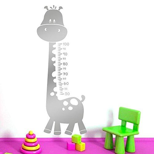 IDEAVINILO - Vinilo Decorativo Infantil medidor de girafa manchitas. Medida: 50 x 130 cm
