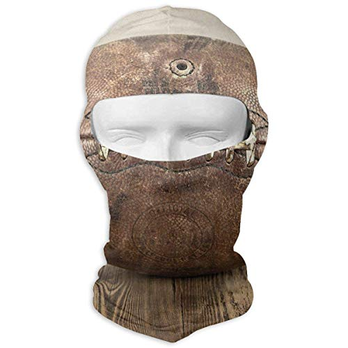 Vintage Football On Vintage Background Balaclava Face Mask Hood for Women Men Extra Warmth Hiking Motorcycling Neck Mask