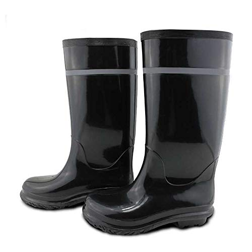 Zapatos de Lluvia para Hombre Protección Laboral Zapatos de Lluvia Botas de PVC Altas Botas de mineros Zapatos Impermeables Botas de Nieve para Hombre (tamaño : 42 2/3 EU)