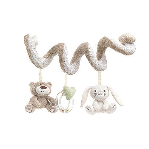 JYSPORT Jouet de lit bébé spirale d'activités - Pour poussette, siège auto–Jouet en peluche pour bébé de 0 à 36mois Taille unique ours